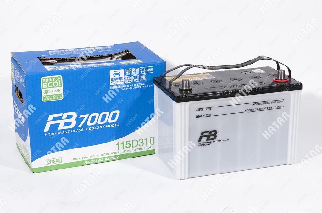 FB Аккумулятор fb7000 япония ёмкость 90 а/ч, пусковой ток 900а япония