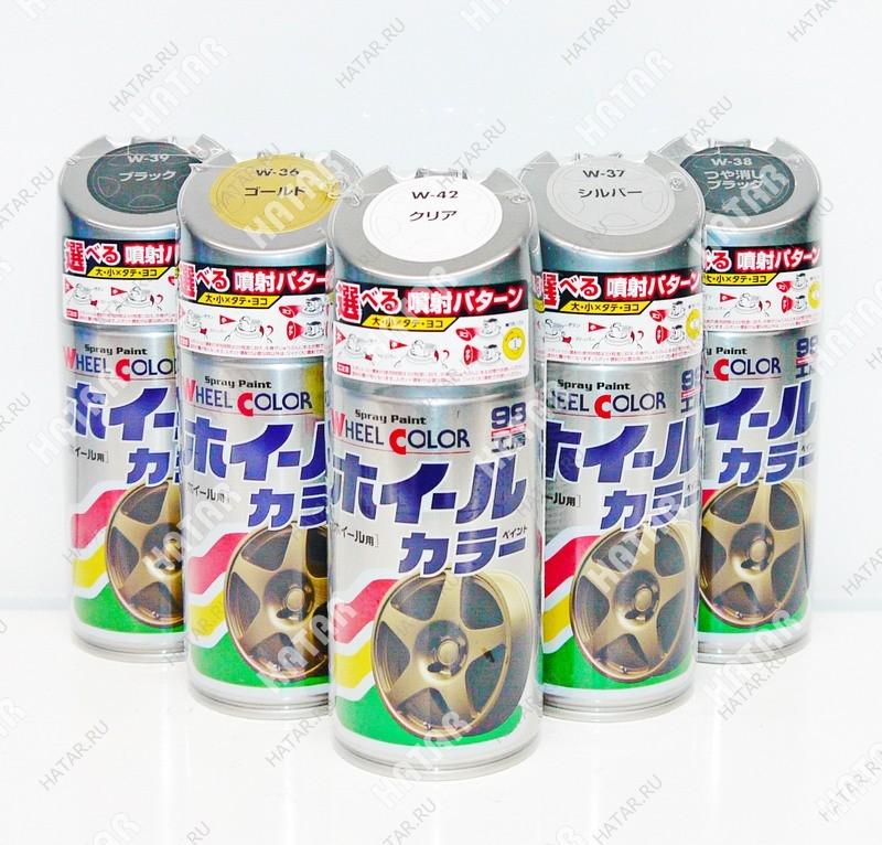 SOFT99 Краска для дисков wheel color paint, черный глянцевый, 300мл