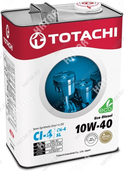 TOTACHI 10w40 eco-diesel масло моторное, полусинтетика, 4л