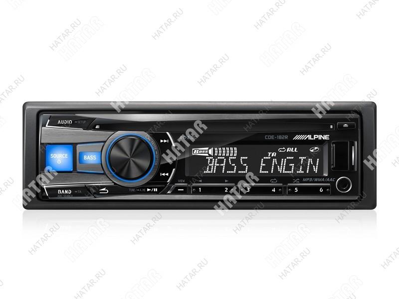 ALPINE Alpine автомагнитола 1 din cd-проигрыватель макс. мощность 4 x 50 вт воспроизведение с usb и ipod аудиовход на передней панели радиоприемник