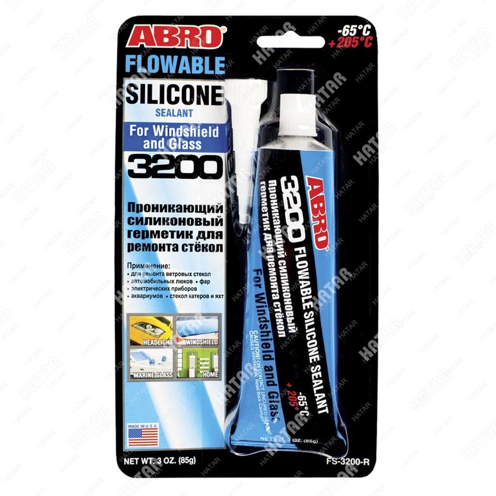 ABRO Герметик силиконовый проникающий для ремонта стекол 85г