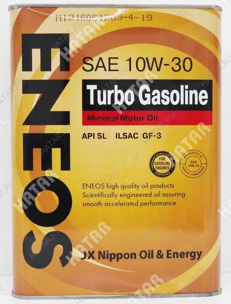 ENEOS 10w30 turbo gasoline минеральное моторное масло sl/ gf-3 4л