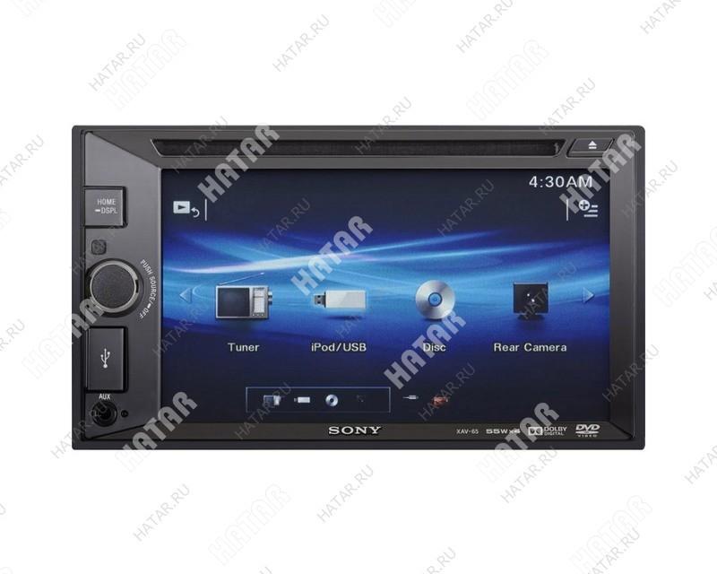 "SONY Xav-65 sony автомагнитола 2 din dvd-проигрыватель сенсорный дисплей 6.2"" usb"
