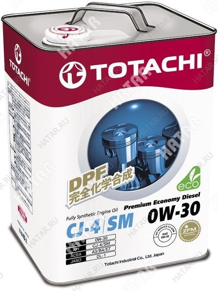 TOTACHI 0w30 premium economy diesel масло моторное, синтетика cj-4/sm 6л