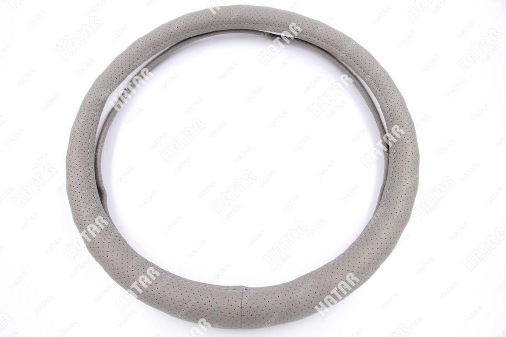 BOOST Оплетка руля серый перфорированная размер м