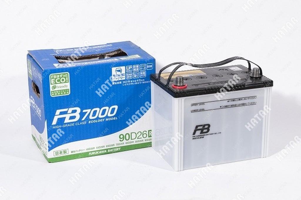 FB Аккумулятор fb7000 япония ёмкость 73 а/ч, пусковой ток 750а япония