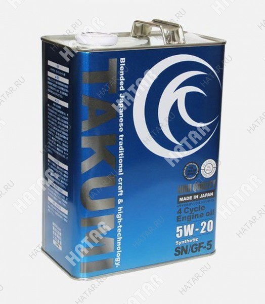 TAKUMI 5w20 high quality sn/gf-5 моторное масло 4л