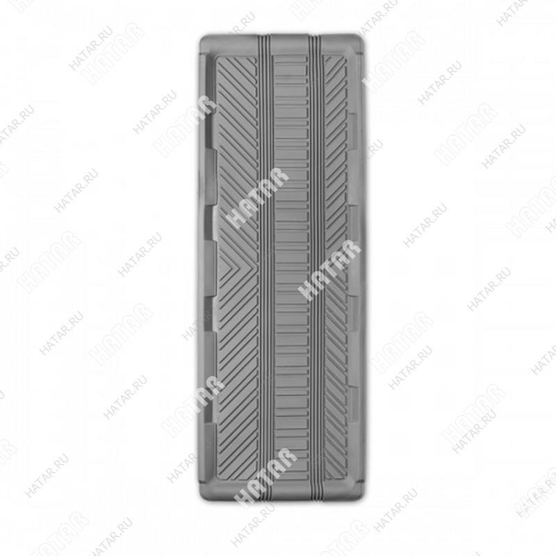 AUTOPROFI Коврик автомобильный, groove универсальный, длинная ванночка заднего ряда, термопласт, 1 шт., 127х45см, серый
