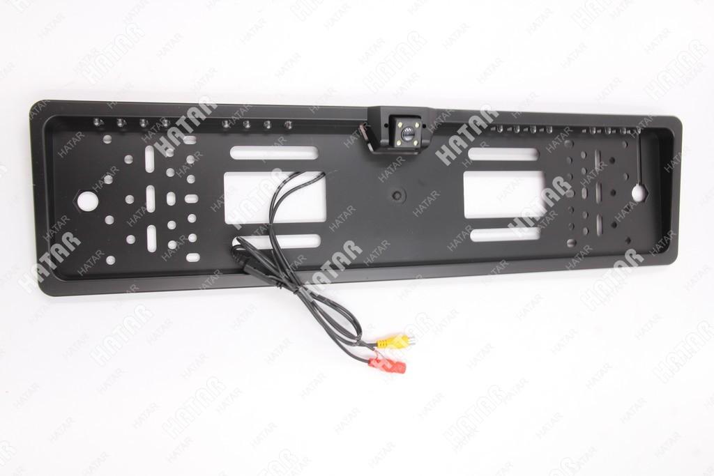 VISUAL Рамка под номер с камерой черная