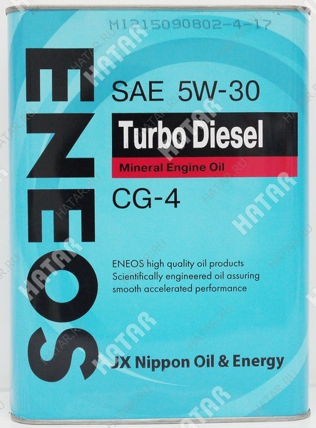 ENEOS 5w30 turbo diesel минеральное моторное масло cg-4 4л