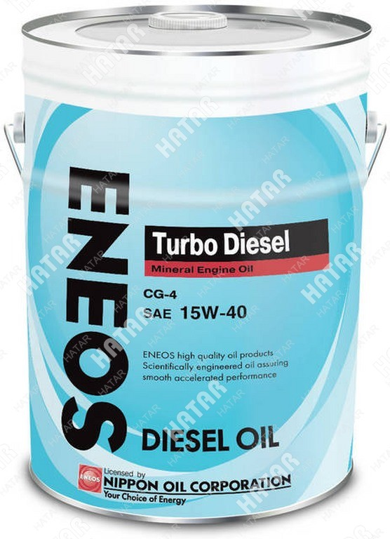 ENEOS 15w40 turbo diesel минеральное моторное масло cg-4 20л
