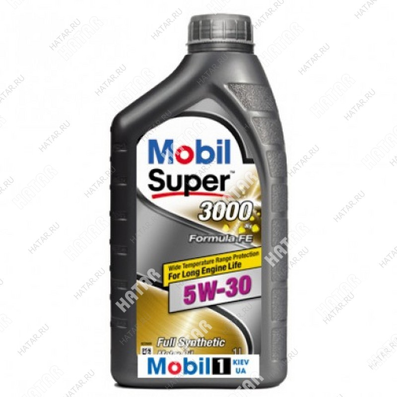 MOBIL 5w30 super 3000 x1 formula fe масло моторное синтетическое acea a5/b5; api sl/cf 1л