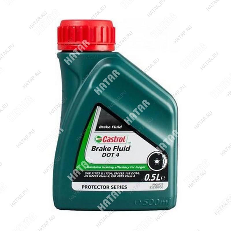 CASTROL Brake fluid dot-4 тормозная жидкость 0.5л