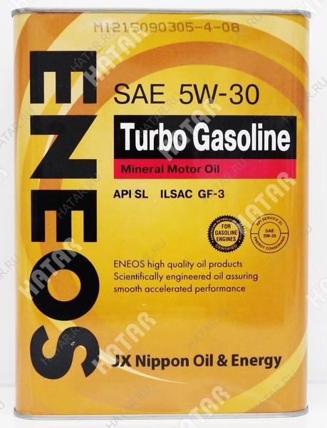 ENEOS 5w30 turbo gasoline минеральное моторное масло sl/ gf-3 4л