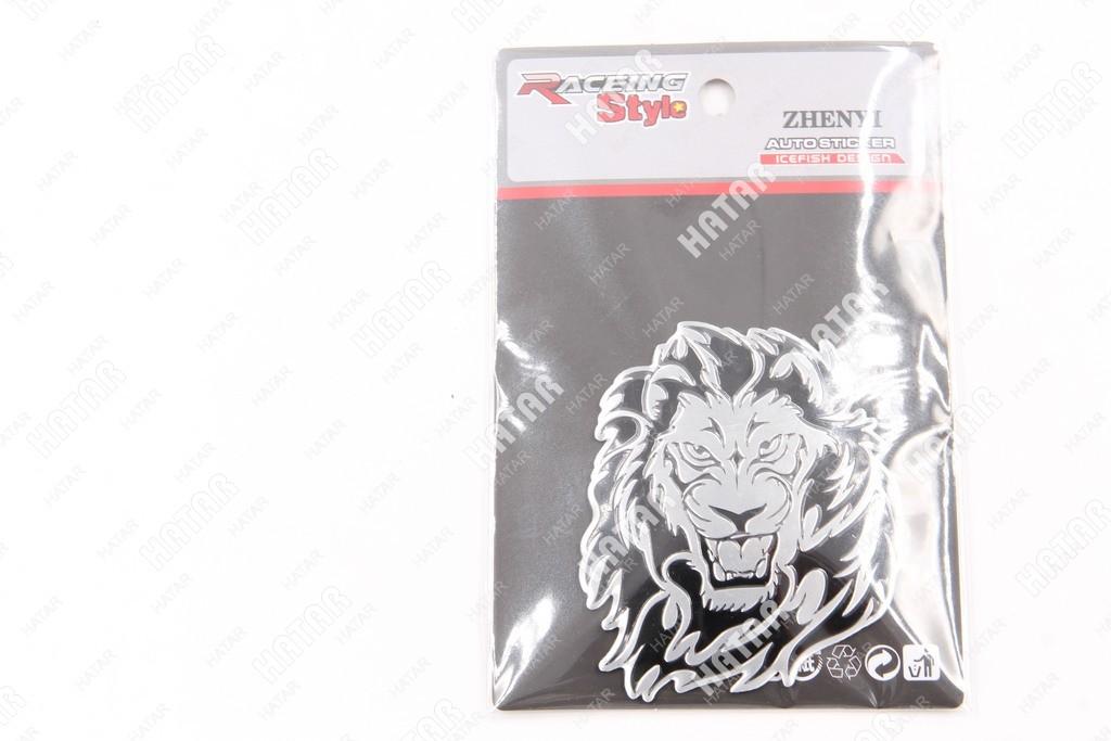 RACING STYLE Наклейка металл лев