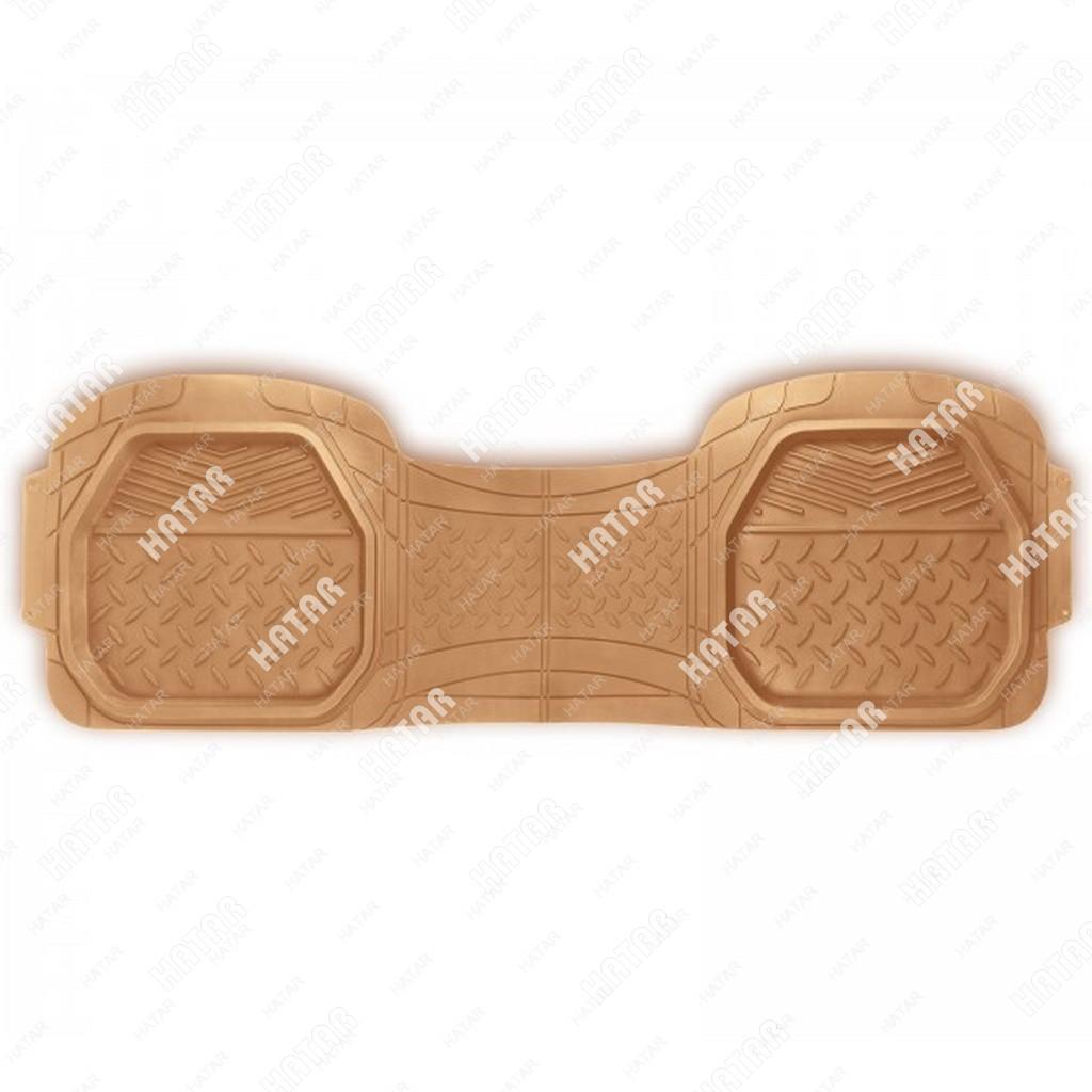 """PREMIER Коврик сплошной ряд автомобильный  comfort, бежевый, """"ванночки"""", термоэластичная резина"""