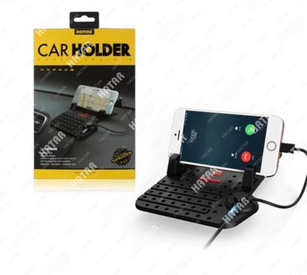 REMAX Коврик-держатель телефона/ навигатора с зарядным устройством