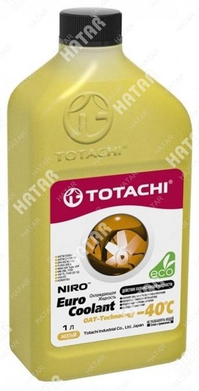 TOTACHI Extended life coolant -40°c антифриз желтый карбоксилатный 1л