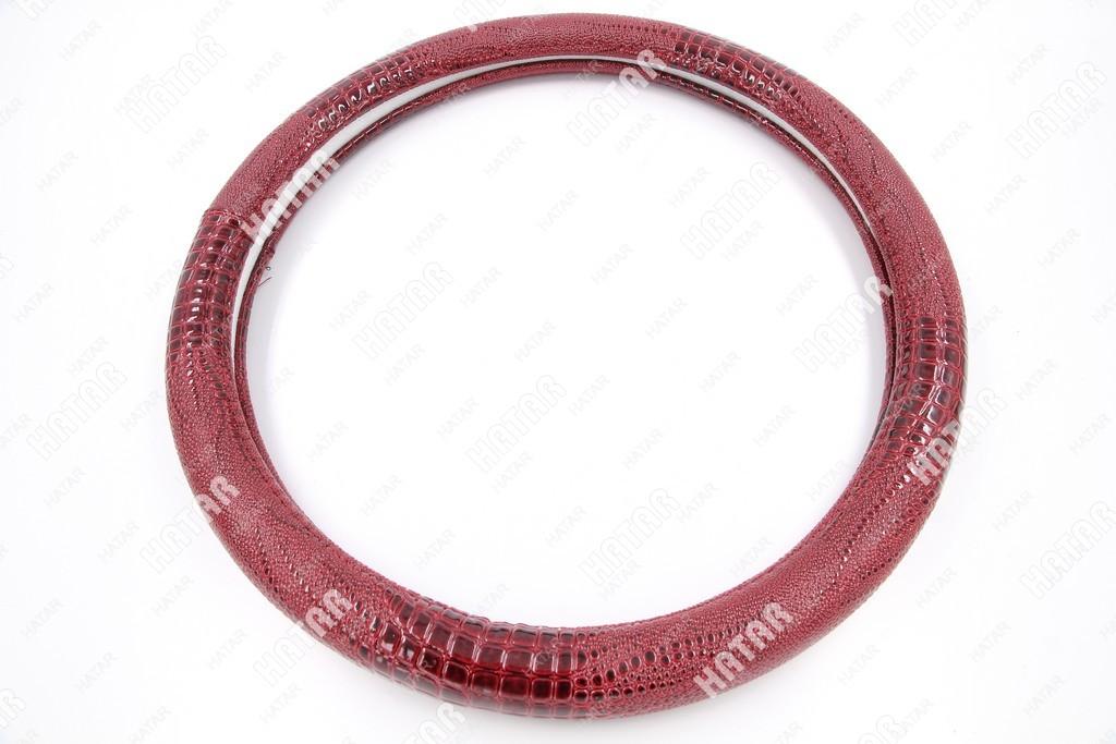 BOOST Оплетка руля змеиная кожа бордовый размер м