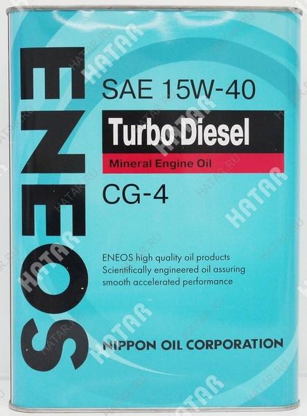 ENEOS 15w40 turbo diesel минеральное моторное масло cg-4 0.94л