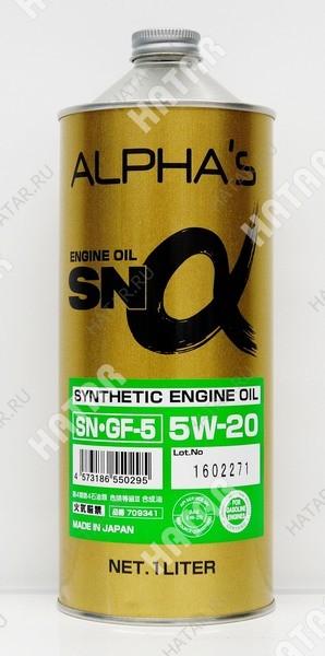 ALPHAS 5w20 масло моторное sn/gf-5 1l