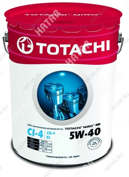 TOTACHI 5w40 niro hd масло моторное,синтетика, ci-4/ch-4/sl 16.5кг/19,34л