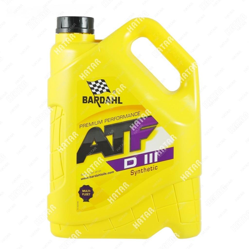 BARDAHL Atf dexron iii 5l (авт. транс. синт. масло)