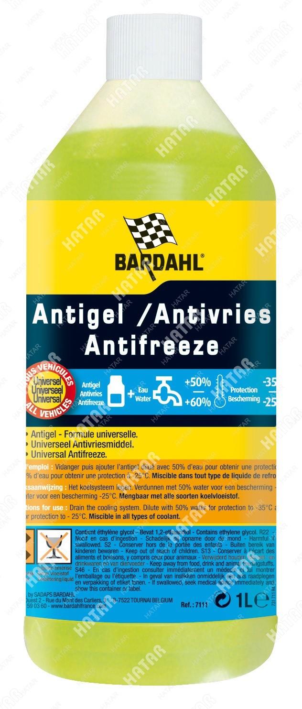 BARDAHL Engine antifreeze антифриз концентрат g12+ желтый, 1л