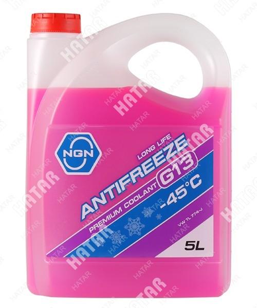 NGN Антифриз, готовый раствор g13 -45 фиолетовый 5л
