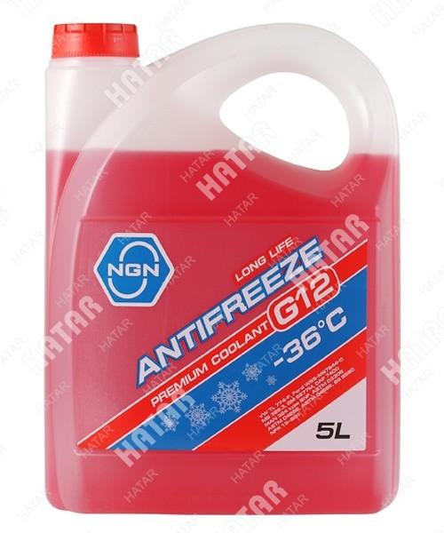 NGN Антифриз, готовый раствор g12 -36 красный 5л