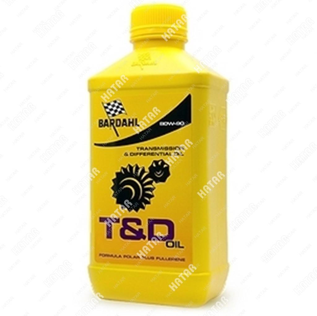 BARDAHL 80w90 gl4/5 t&d oil 1l (синт. трансмисионное масло)