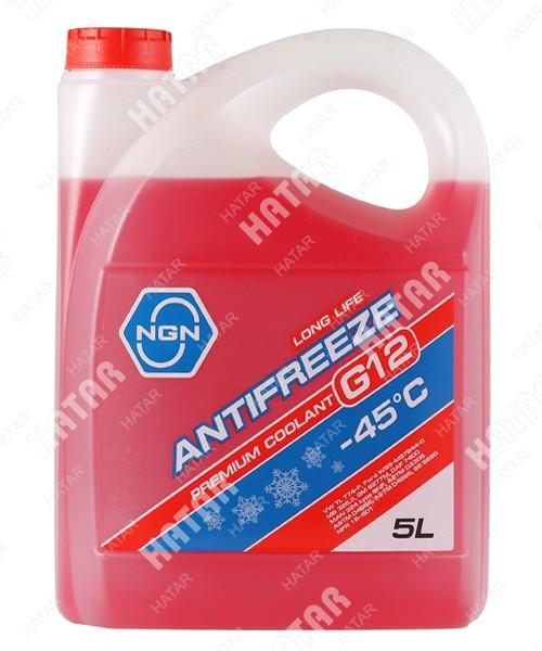 NGN Антифриз, готовый раствор g12 -45 красный 5л