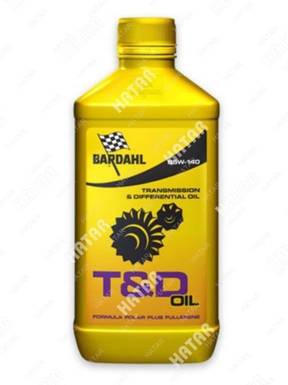 BARDAHL 85w140 gl4/5 t&d oil 1l (синт. трансмисионное масло)