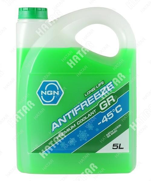 NGN Антифриз готовый раствор gr -45 зеленый 5л