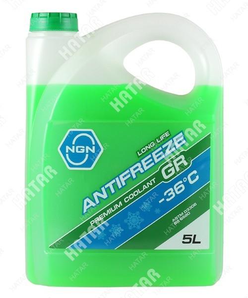NGN Антифриз, готовый раствор gr -36 зеленый 5л