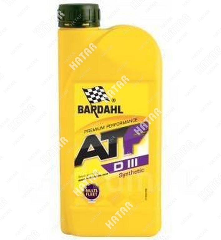 BARDAHL Atf dexron iii 1l (авт. транс. синт. масло)