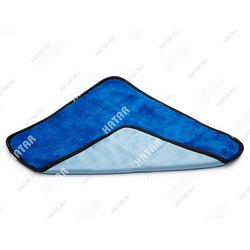 CLINGO Салфетка двусторонняя для ухода за автомобилем, 42,5х38 см, микрофибра, синий-г