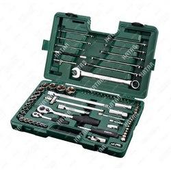 SATA набор инструмента универсальный 1/4 и 1/2dr, торцовые головки 8-32мм, комби ключи