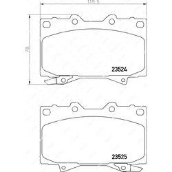 NISSHINBO Колодки тормозные дисковые   перед   pf-1411